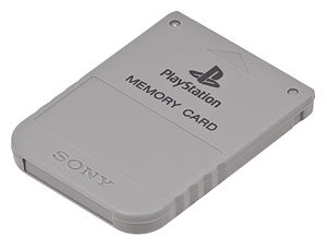 Saved game - A PlayStation memory card, used explicitly for game saves, were common during the 5th and 6th generation of consoles as read-only media became more popular.