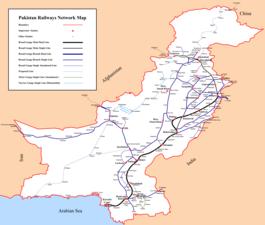 Rete ferroviaria pakistana Map.png