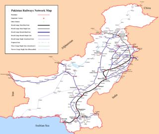 Railway lines in Pakistan