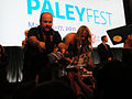 PaleyFest 2011 - Freaks and Geeks-Undeclared Reunion - Steve Bannos and Busy Philipps sign for fans (5524465533).jpg