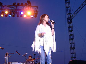 Pam Tillis - Tillis singing at the 2006 Missouri State Fair, where she opened the show for George Jones.