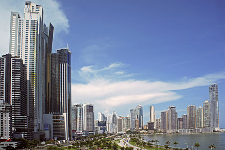 Panama City, the second largest agglomeration in Central America Panama 08 2013 7035.jpg