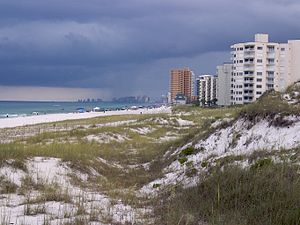A view of Panama City Beach, Florida from St. ...