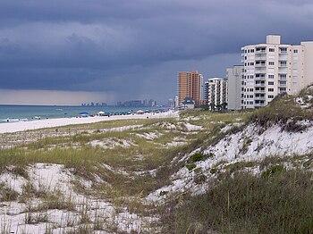 English: A view of Panama City Beach, Florida ...