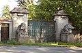 Panenské Břežany, castle gate.jpg