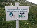 Panneau zone restauration pelouse - parc naturel régional de Chartreuse.jpg