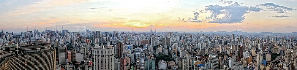 5dd8b99977d Panoramic view of Central Zone of São Paulo from Italy Building