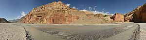 Gandaki River - Panorama of the Kali Gandaki gorge in Upper Mustang