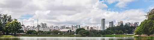 Panoramic view of Ibirapuera Park, São Paulo, Brazil