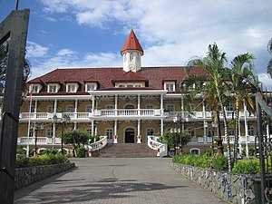 Papeete - Papeete Town Hall, a replica of the Royal Palace of Papeete razed in the 1960s