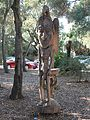 Papua New Guinea Sculpture Garden at Stanford University, front side of giant stool 1.jpg