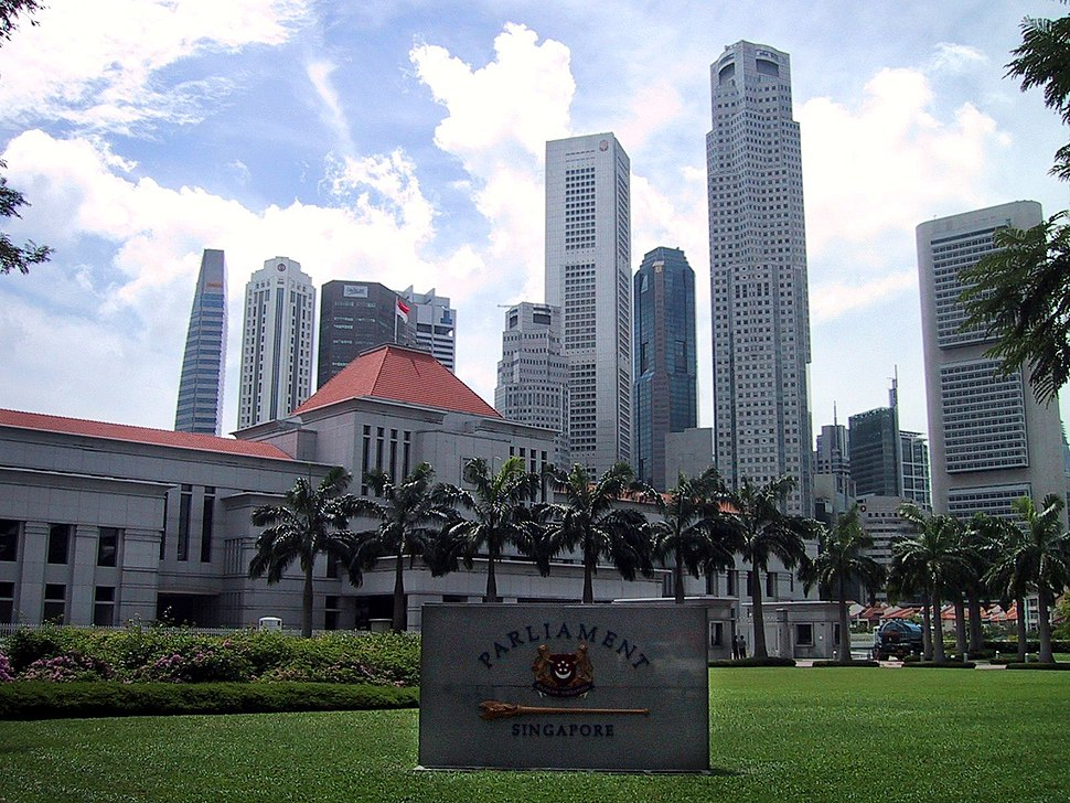 Parliament House and the Singapore skyline - 2002
