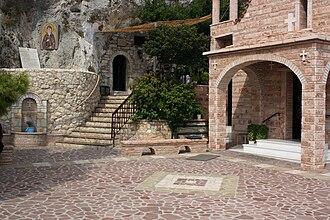Loutraki - Inside the monastery of St Patapius