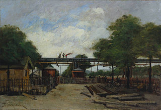 Construction of an Elevated Railway:  Bridge over the Cours de Vincennes