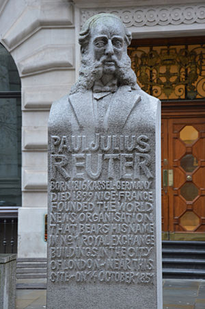 Paul Reuter - Bust of Reuter in the City of London