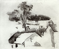 Paul Cézanne- Rooftops and Tree.jpg