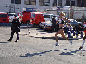 Paula Radcliffe - Paula Radcliffe at mile 14, New York City Marathon 2007