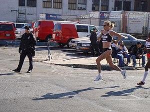 Paula Radcliffe - Paula Radcliffe at mile 14, New York City Marathon 2007