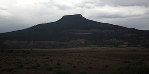 Cerro Pedernal - From Youngsville, New Mexico, also in monsoon weather