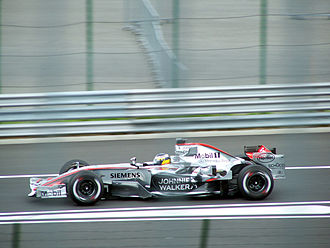 2006 Hungarian Grand Prix - Pedro de la Rosa scored the first (and only) podium finish of his career in second position.