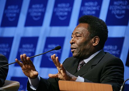 Pele at the World Economic Forum in Switzerland, 2006 Pele - World Economic Forum Annual Meeting Davos 2006.jpg