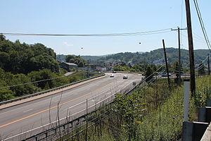 Pennsylvania Route 61 - PA 61 south near Shamokin, as seen from PA 225