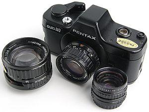 Pentax Auto 110 - Pentax Auto 110 with the three original lenses.