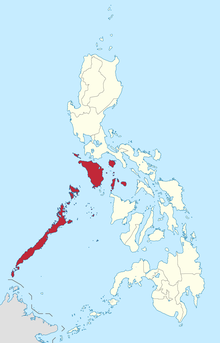 Map of the Philippines highlighting MIMAROPA