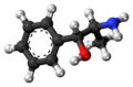 Phenylpropanolamine molecule ball.png