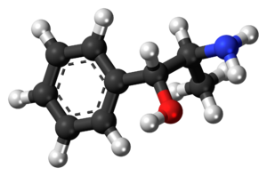 Phenylpropanolamine - Image: Phenylpropanolamine molecule ball