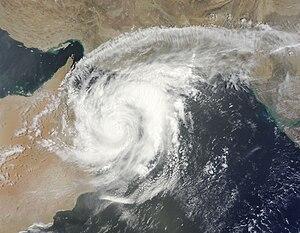 Cyclone Phet - Cyclone Phet inland over Oman