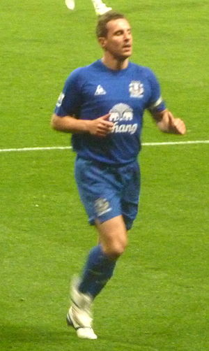 Phil Jagielka - Jagielka playing for Everton in 2011