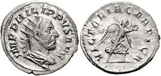 Carpi (people) - Image: Philippus Arabus Antoninianus 83217