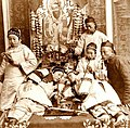 Photo depicting opium smoking was posed in a studio for a stereoview card, circa 1900 - Collectors Weekly.jpg