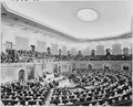 Photograph of President Truman delivering his State of the Union address to a joint session of Congress. - NARA - 200188.tif