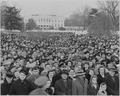 Photograph of a large crowd assembled on the South Lawn of the White House for the lighting of the National Community... - NARA - 199270.tif