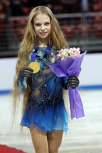 Alexandra Trusova - Trusova at the 2018 Junior Worlds