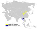 Phylloscopus yunnanensis distribution map.png