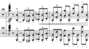 Piano Concerto No. 1 (Liszt) - The first entrance in the first movement introduces a motive that is revisited several times.