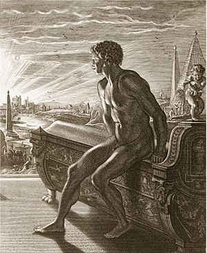 Memnon (mythology) - Memnon in an engraving by Bernard Picart (1673–1733)