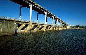 Pickwick Landing Dam - Pickwick Landing Dam from upstream
