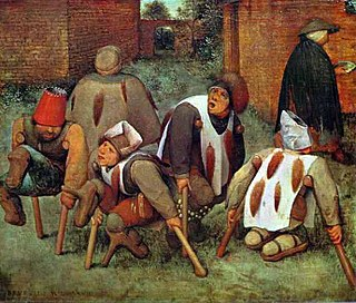 <i>The Beggars</i> painting by Pieter Brueghel the Elder