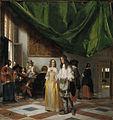 Pieter de Hooch - Merry Company in a Hall - kmssp615.jpg
