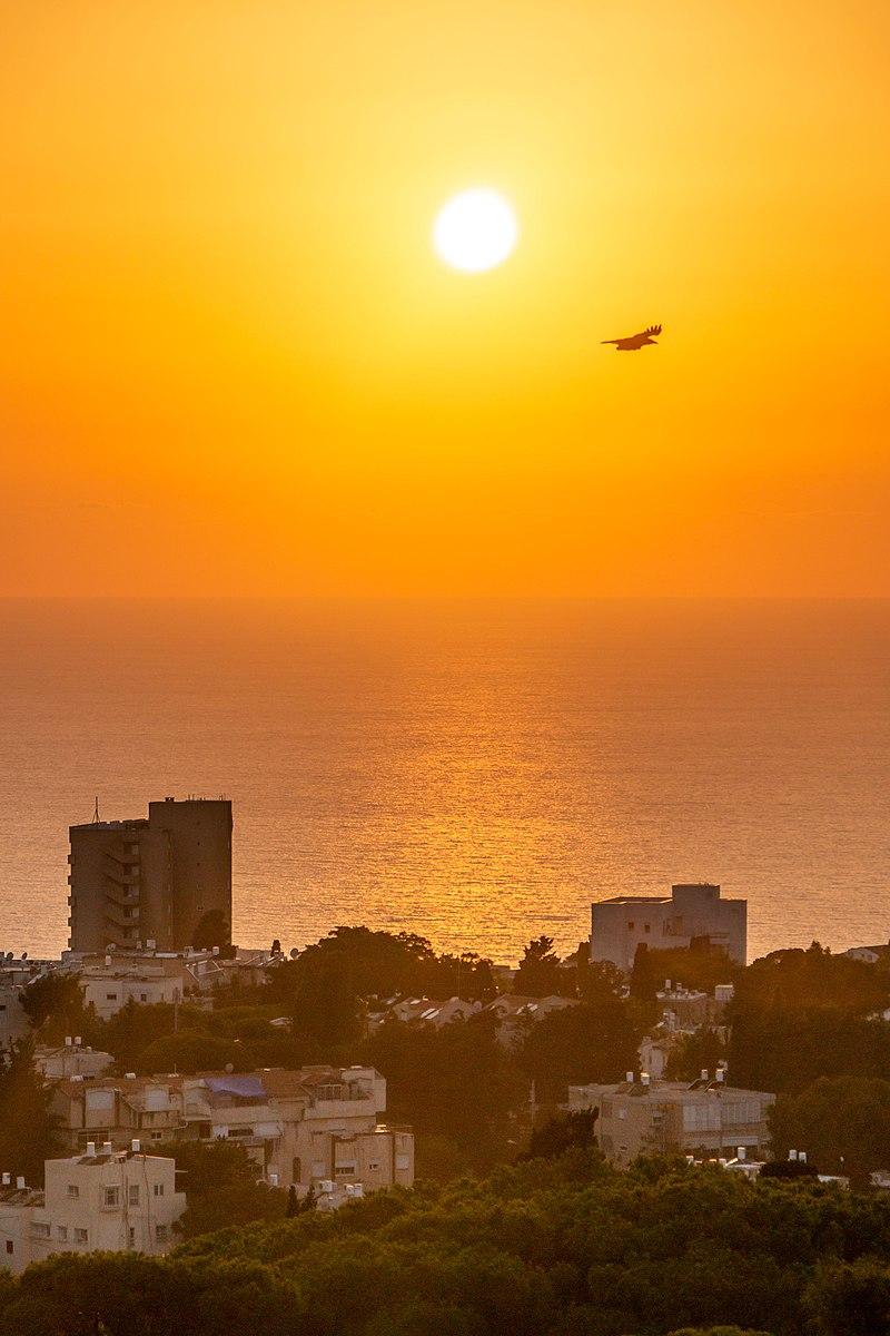 חיפה בשקיעה