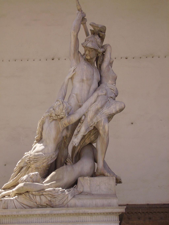 Pio Fedi, Il gruppo di Polissena, Loggia dei Lanzi, Piazza della Signoria, Firenze