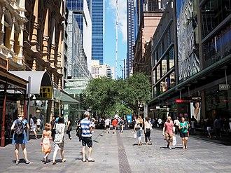 Pitt Street Mall - Pitt Street Mall in February 2016