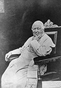 Pous Pius IX omstreeks 1878.