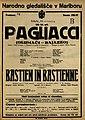 Plakat za predstavi Pagliacci in Bastien in Bastienne v Narodnem gledališču v Mariboru 20. novembra 1926.jpg