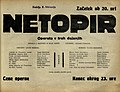 Plakat za predstavo Netopir v Narodnem gledališču v Mariboru 2. februarja 1930.jpg