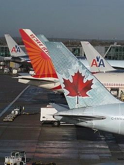 Planes on the apron at Heathrow Terminal 3
